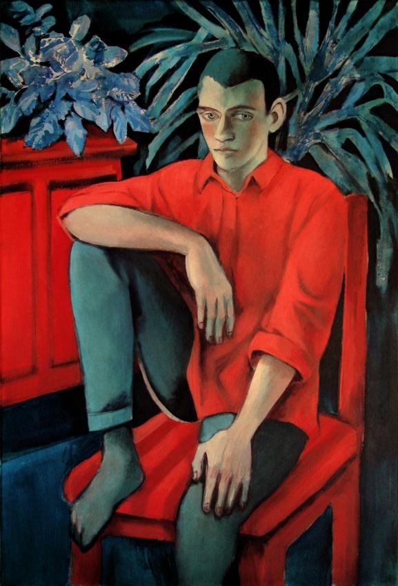 Chłopiec w czerwonej koszuli, 2017r.
