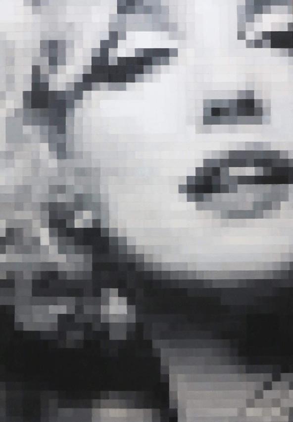 Z twarzą Marylin Monroe, 2017r.