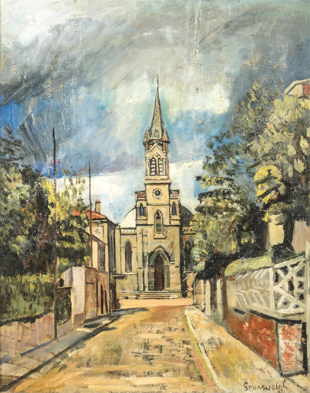 Pejzaż z kościołem