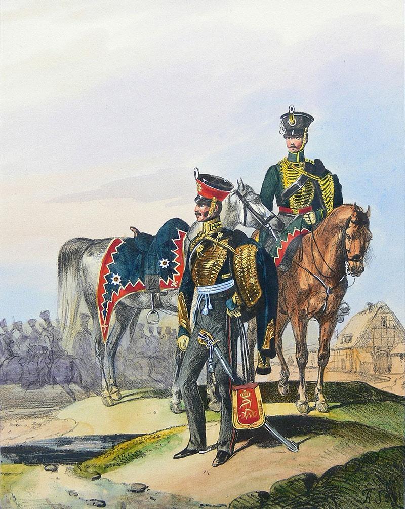Dwaj huzarzy, l. 1838-1843