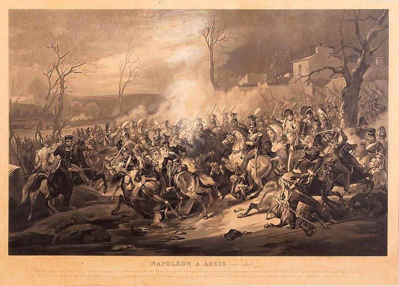 Napoleon pod Arcis-Sur Aube, XIX w.