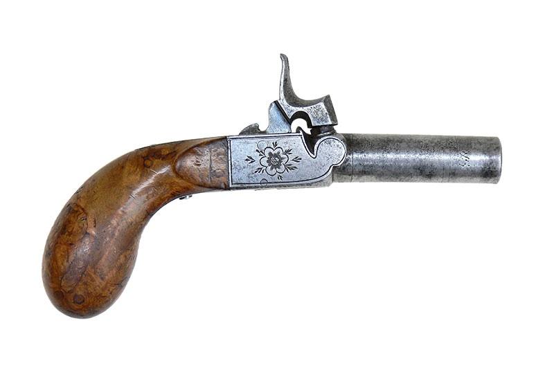 PISTOLET KAPISZONOWY PODRÓŻNY, OK. 1850 R.