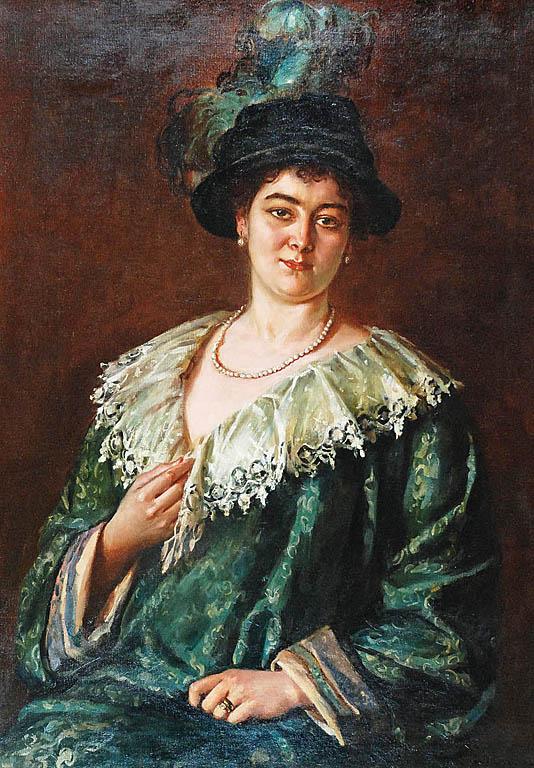 Portret Emanueli - Żony Malarza 1913