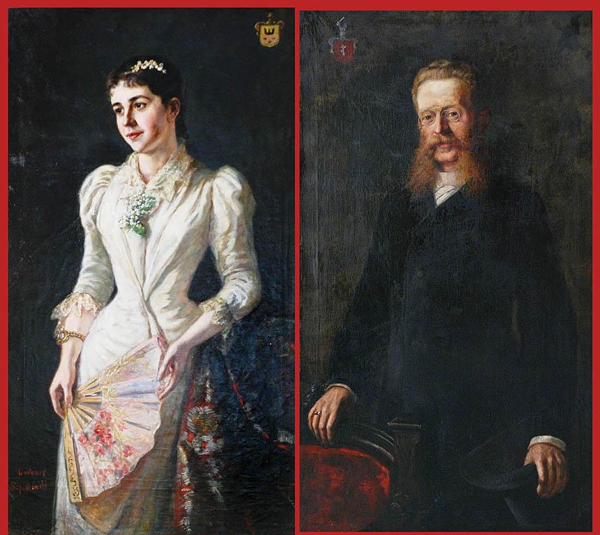 Para portretów rodowych, ok. 1895