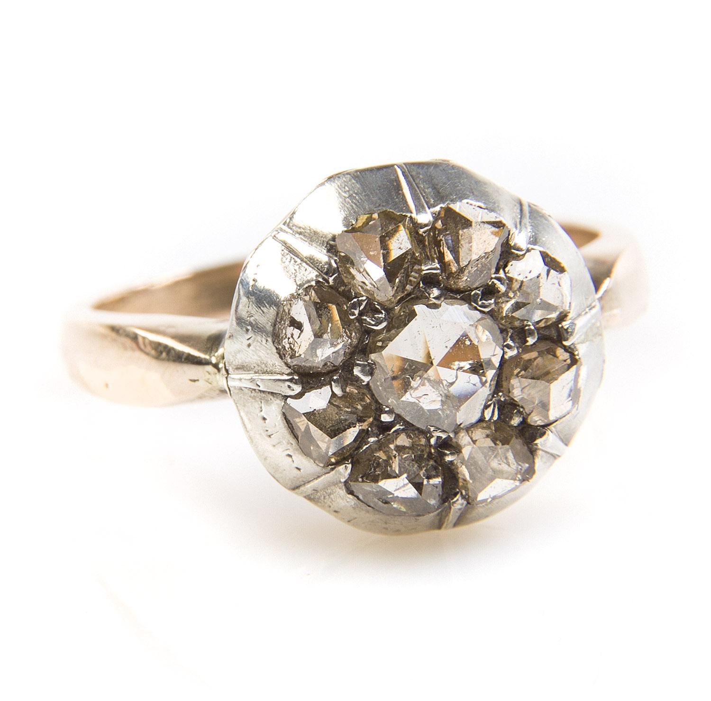 Pierścionek z rozetami diamentowymi, XIX w.