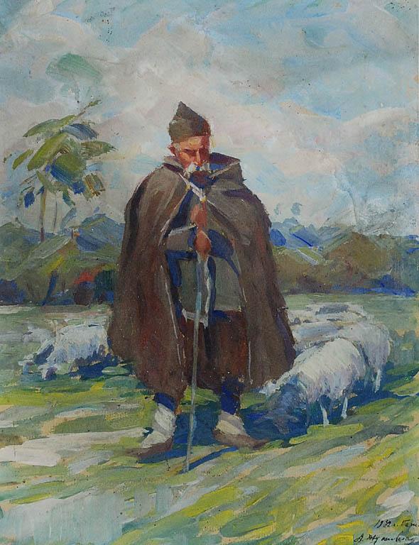 Pasterz z owcami, 1932