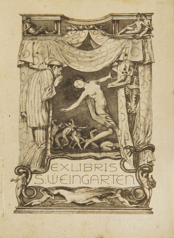 Exlibris Stanisława Weingartena, około 1920 r.