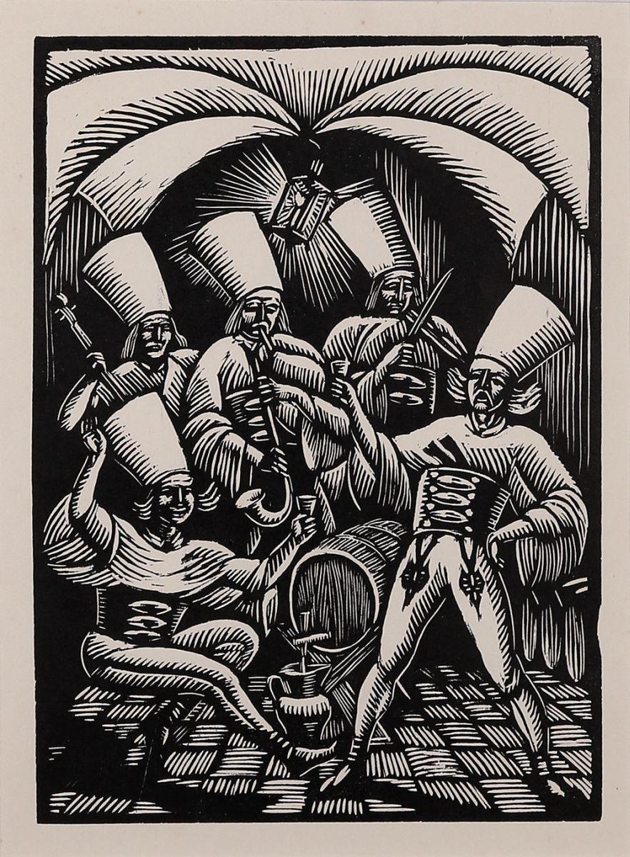 W murowanej piwnicy, 1929 r.
