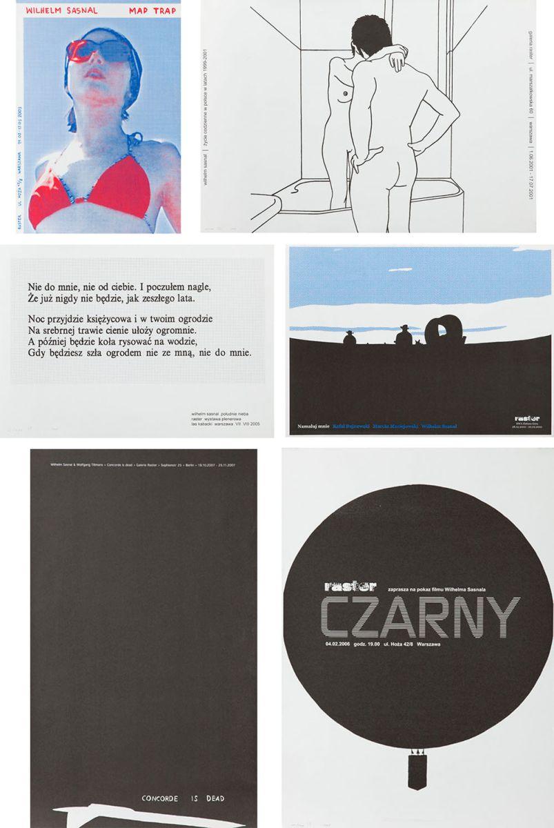 Plakaty z przeszłości i przyszłości - seria 6 sitodruków, 2003 r.