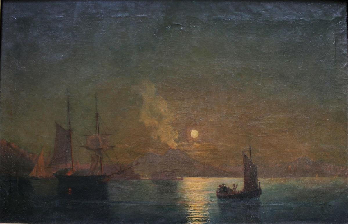Zatoka neapolitańska nocą