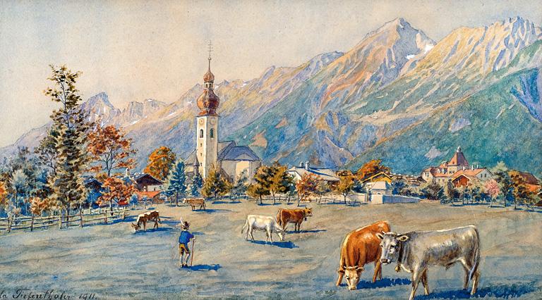 PEJZAŻ ALPEJSKI, 1911