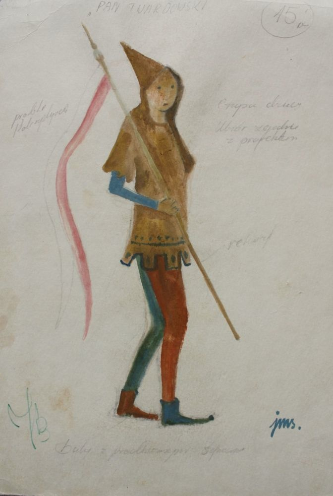 Projekt kostiumu do baletu Pan Twardowski