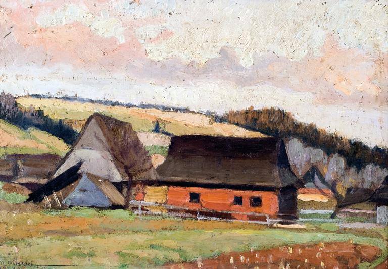 PEJZAŻ PODGÓRSKI Z ZAGRODź, 1923