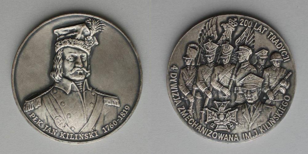 Medal-200 lat tradycji / 4 Dywizja Zmechanizowana im. J.Kilińskiego (1994)