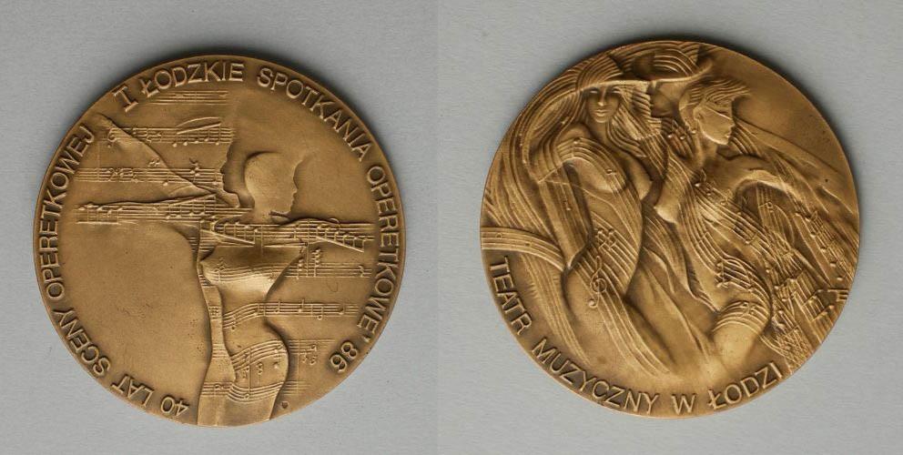 Medal-40 lat Sceny Operetkowej/I Łódzkie Spotkania Operetkowe '86 (1986)