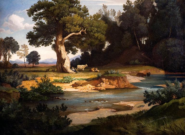 PASTERZE Z KROWAMI U WODOPOJU, 1876