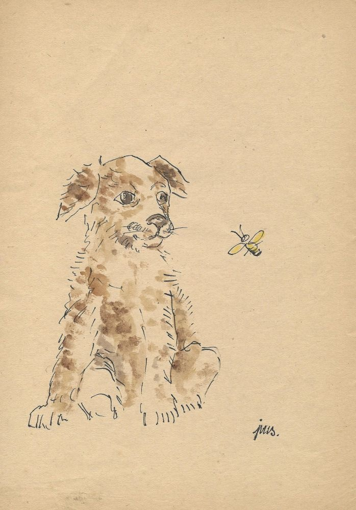 Pies i pszczoła