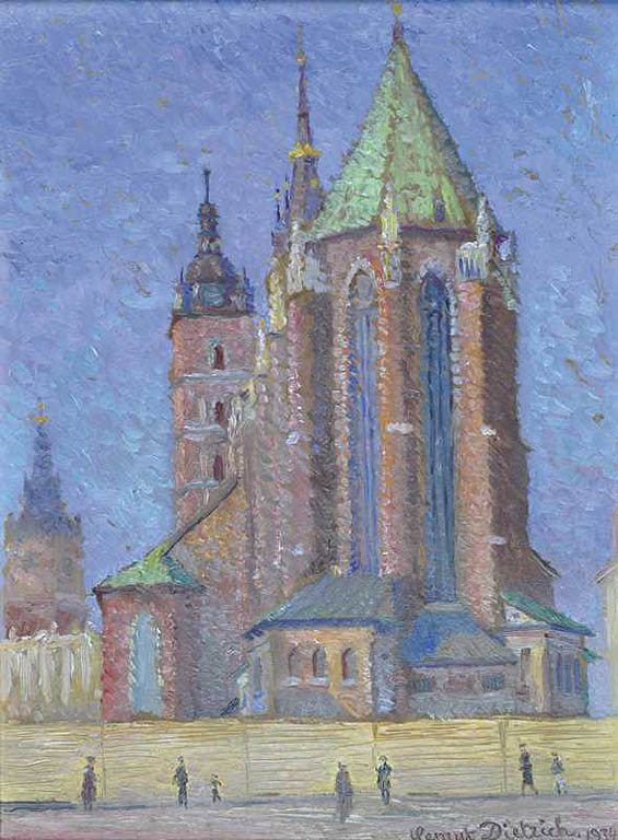 Widok na Kościół Mariacki w Krakowie