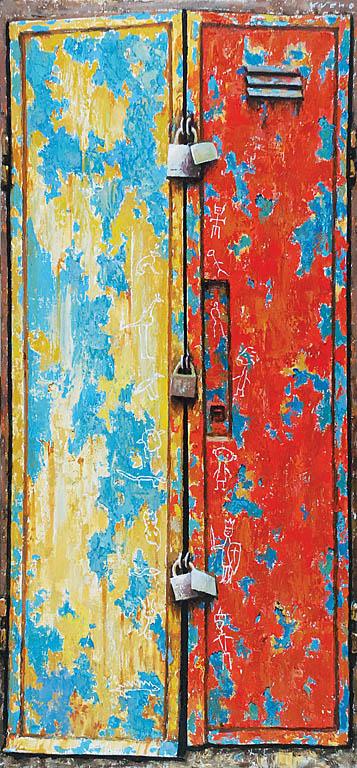 Drzwi z trzema kłódkami, 2008