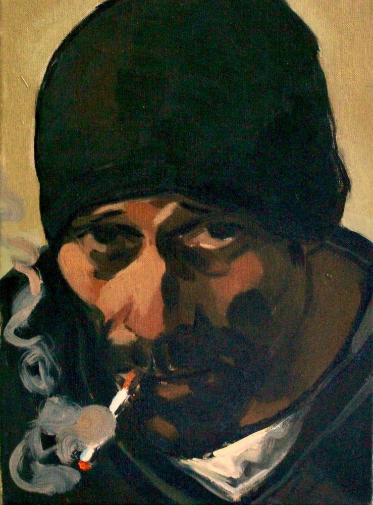 Autoportret w mroźny dzień (2017)