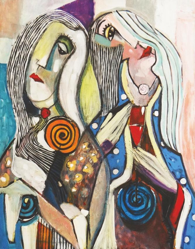 Kobieta wesoła i smutna, 2015