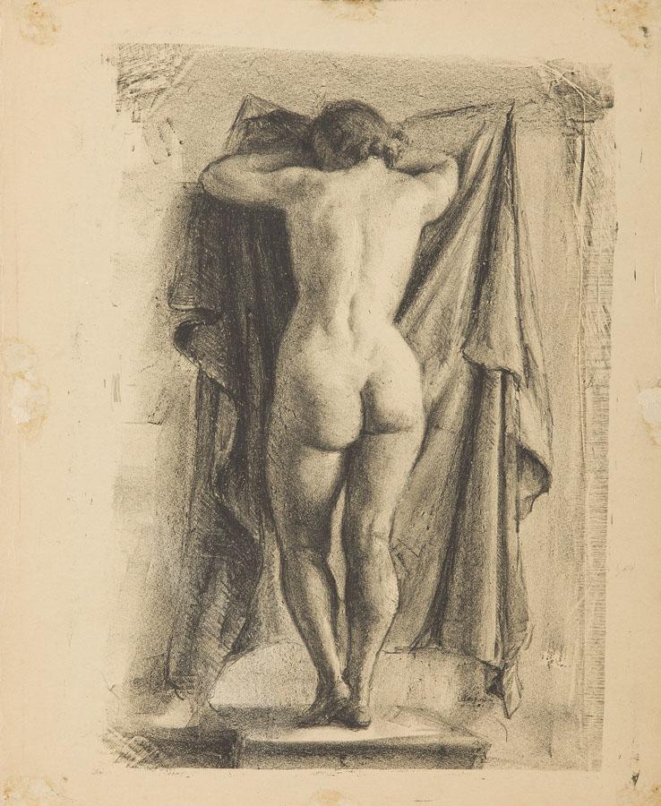 Akt stojącej, 1936 r.