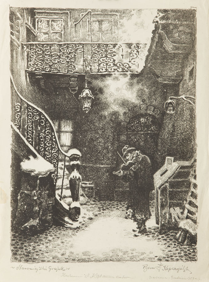 Staromiejski grajek, 1957 r.