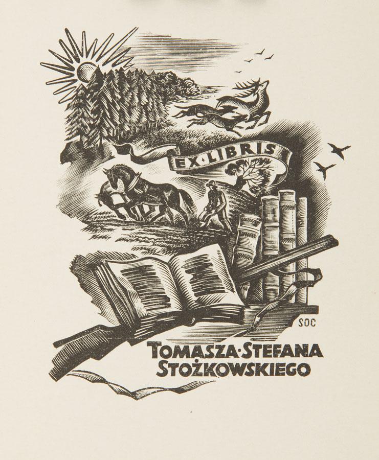 Exlibris Tomasza Stefana Stożkowskiego, 1939 r.