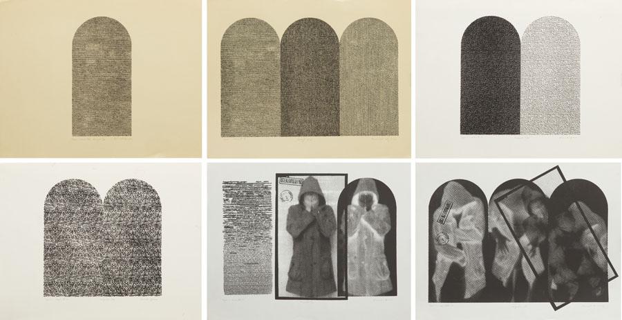 Zestaw 6 grafik z cyklu Zapis, 1982-1983 r.