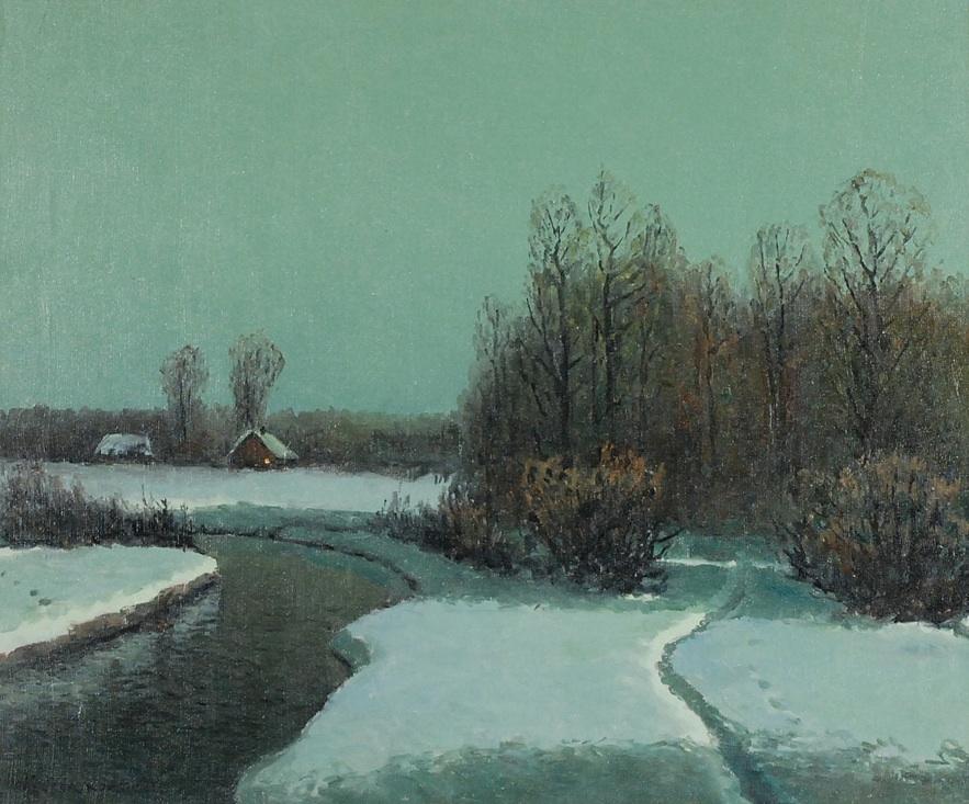 Zimowy nokturn, l. 70 XX w.