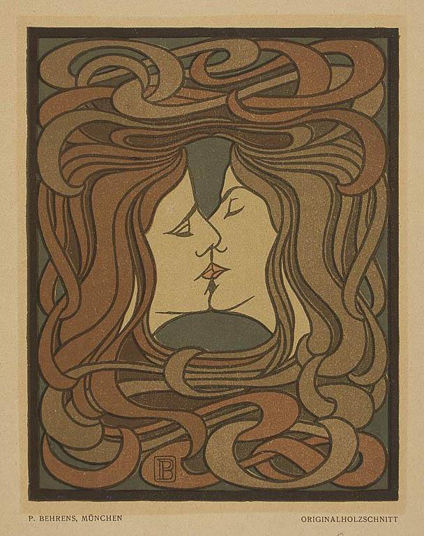 Bez tytułu (Pocałunek), 1898