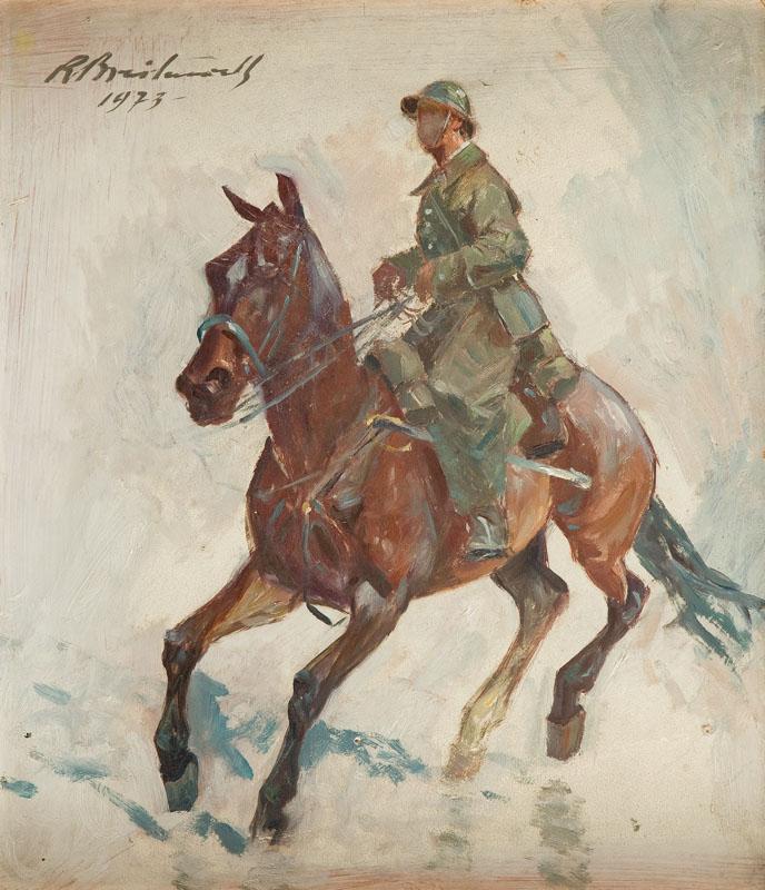Żołnierz na koniu, 1973 r.