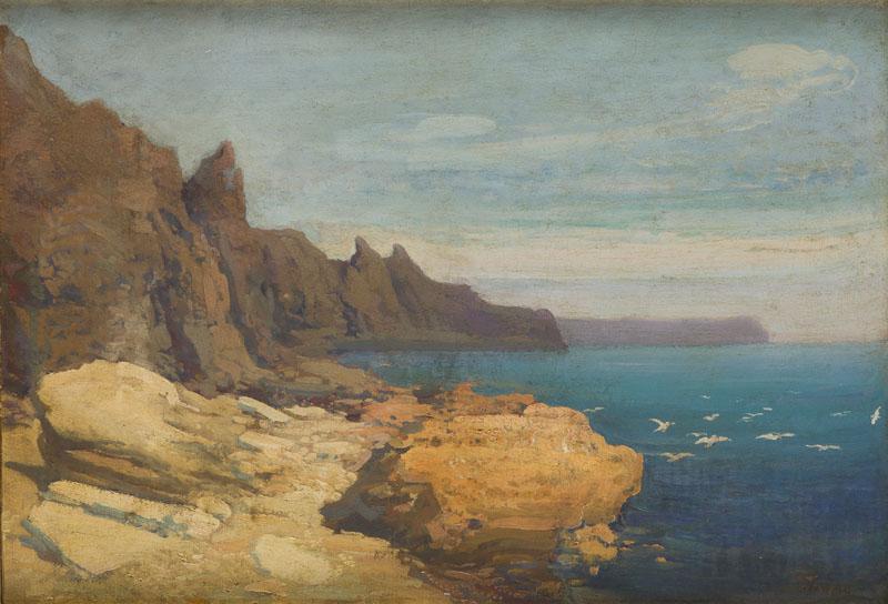 Skały nad morzem (z cyklu Podróże na Krym), około 1910 r.