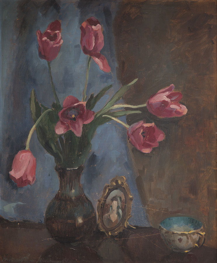 Martwa natura z bukietem tulipanów, 1940 r.