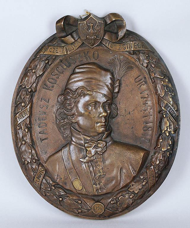Plakieta z popiersiem Tadeusza Kościuszki, ok. 1841-47