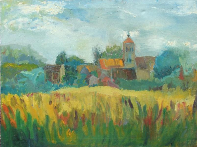 Pejzaż z kościołem (2001)