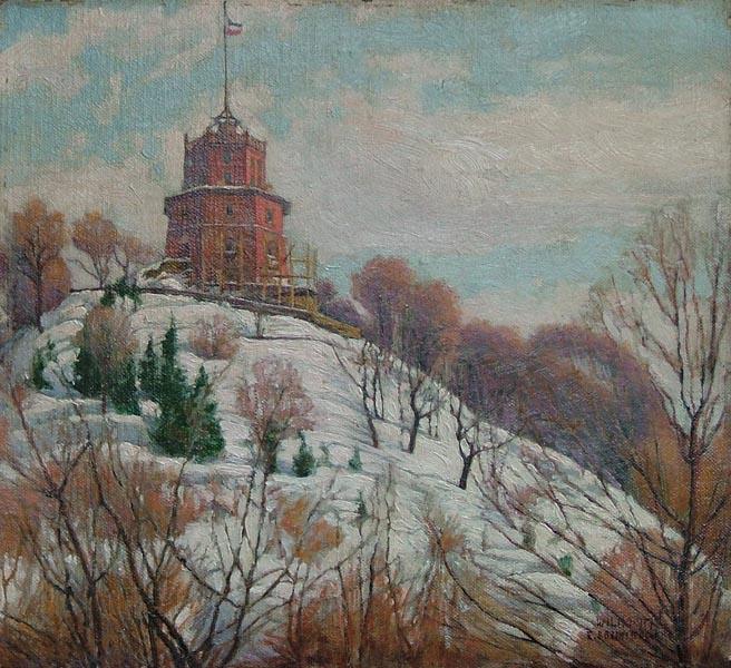 Wieża Giedymina w Wilnie, 1917