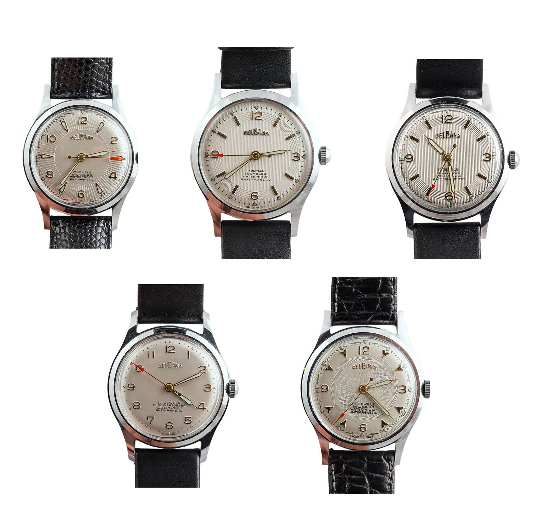 Komplet 5 zegarków