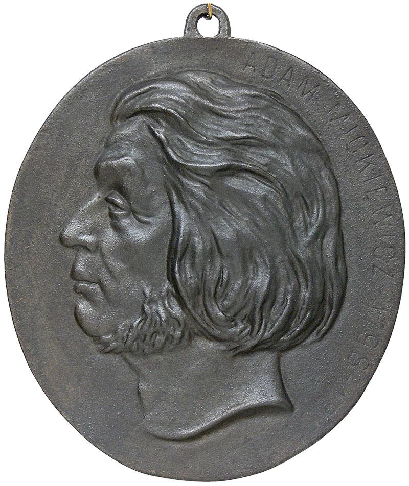 Plakieta z wizerunkiem Adama Mickiewicza