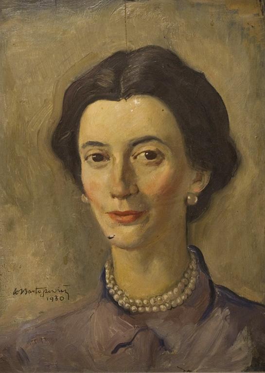 PORTRET KOBIETY W PERŁACH, 1930