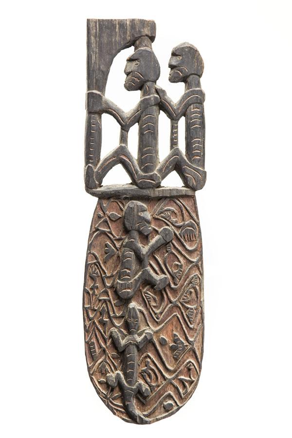Plakieta dekoracyjna, 2 poł. XX w., PLEMIĘ ASMAT, MERAUKE, Papua-Nowa Gwinea