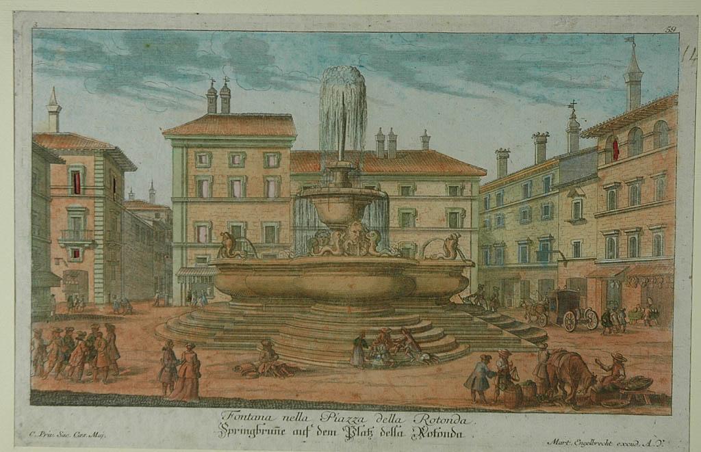 Fontana nella Piazza della Rotonda