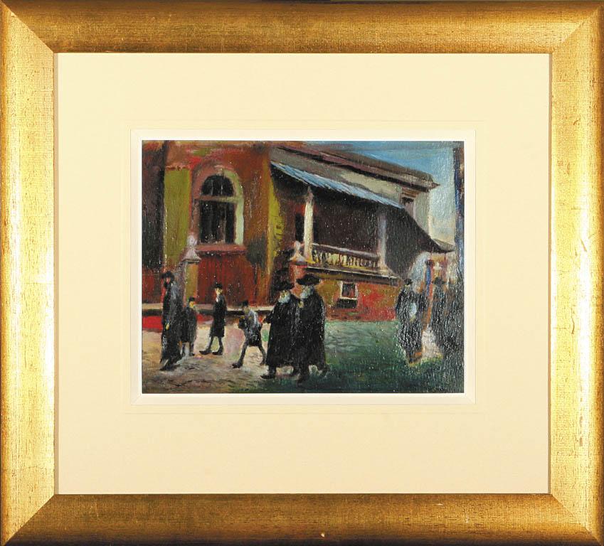 Żydzi przed synagogą