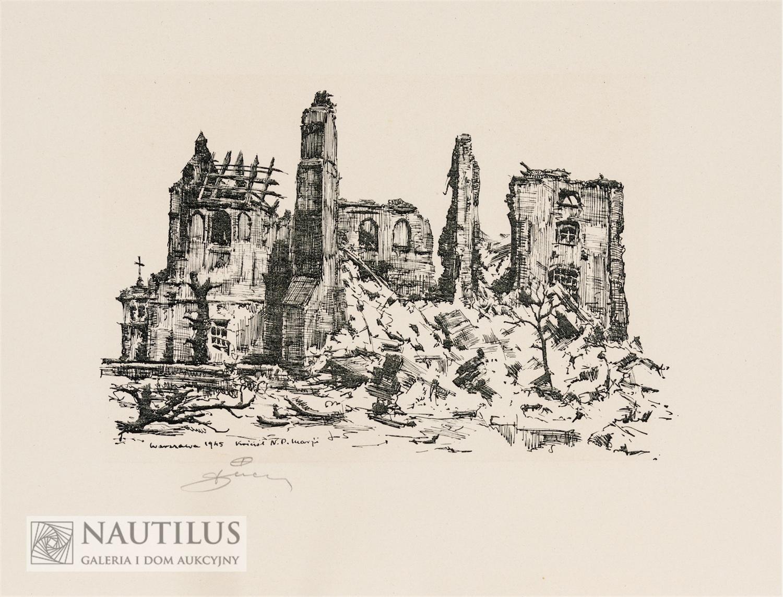 Ruiny Starej Warszawy 1945: 12 plansz autolitograficznych, 1945