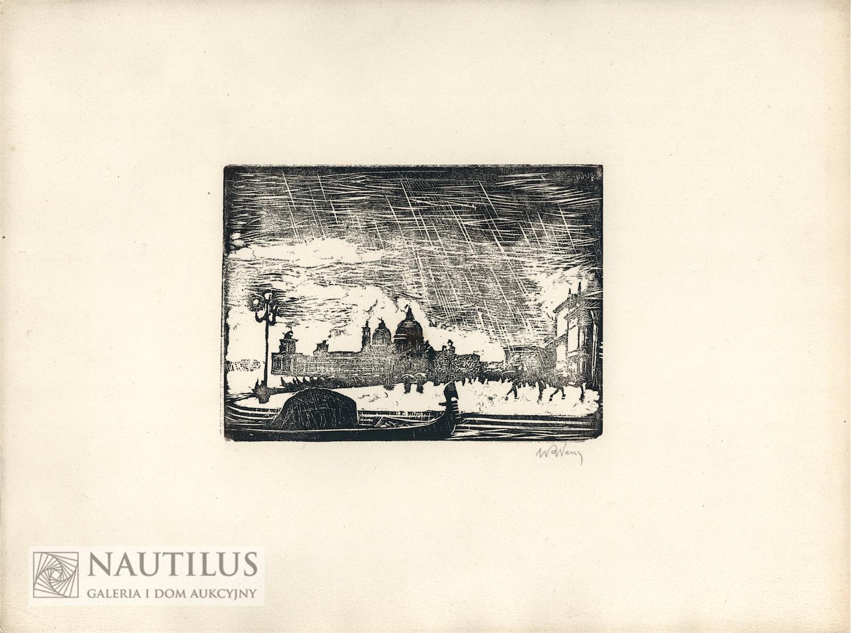 Wenecja - deszcz, 1925