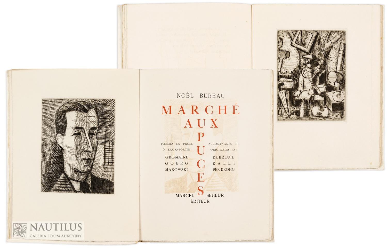 Noël Bureau, Marché aux puces, 1930