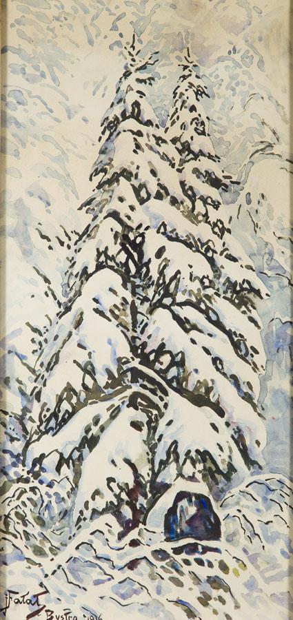 Zima w Bystrej, 1916 r.