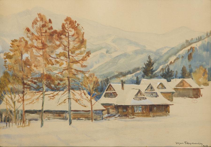 Widok na Świnice z Bystrego, 1928 r.