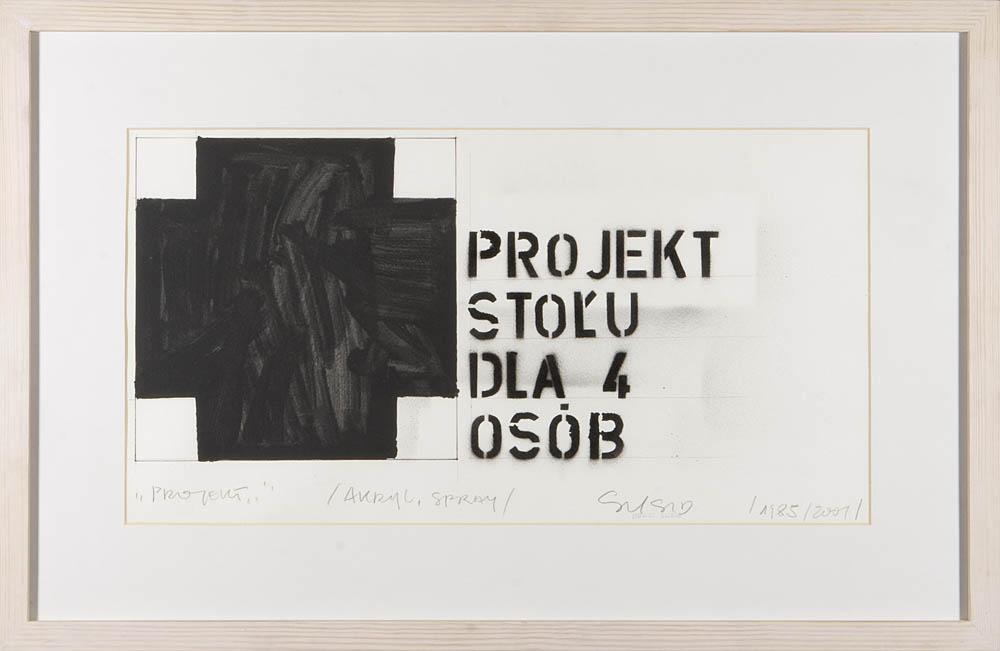 PROJEKT STOŁU DLA CZTERECH OSÓB, 1985/2001