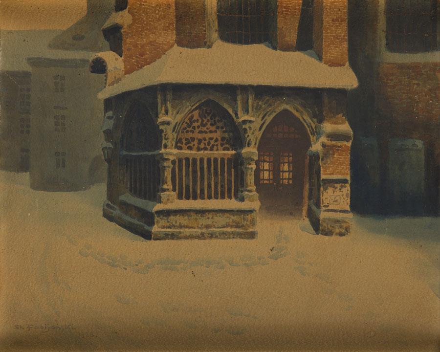 Ogrójec przy kościele św. Barbary w Krakowie, 1928 r.